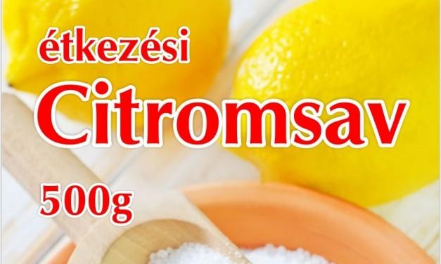 Étkezési citromsav