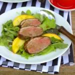 Őszibarack saláta kacsamellel
