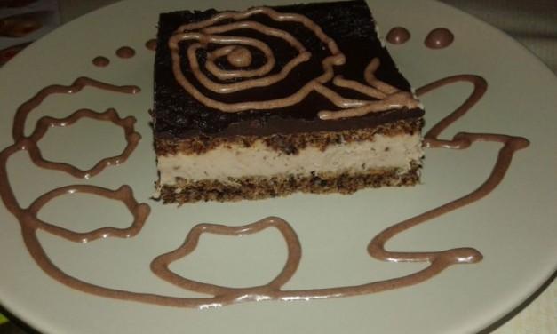 Gesztenyekrémes piskóta csokimázzal (paleo)
