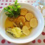 Sertéscsíkok mustáros szósszal, gnocchival
